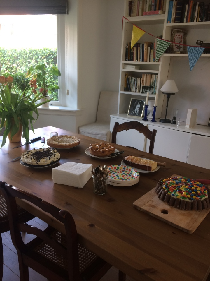 The cake buffet. The kids baked the whole day before.