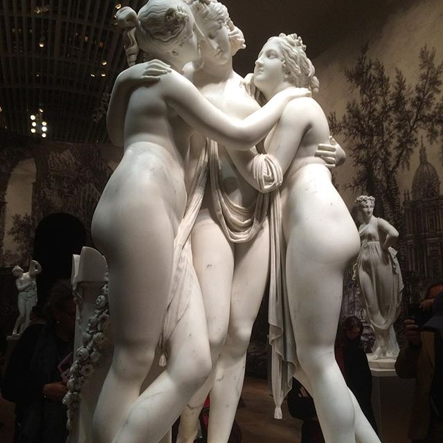 Canova's three graces. Elegance, mirth, youth and beauty. #DutchScoop #Canova #TheHermitage