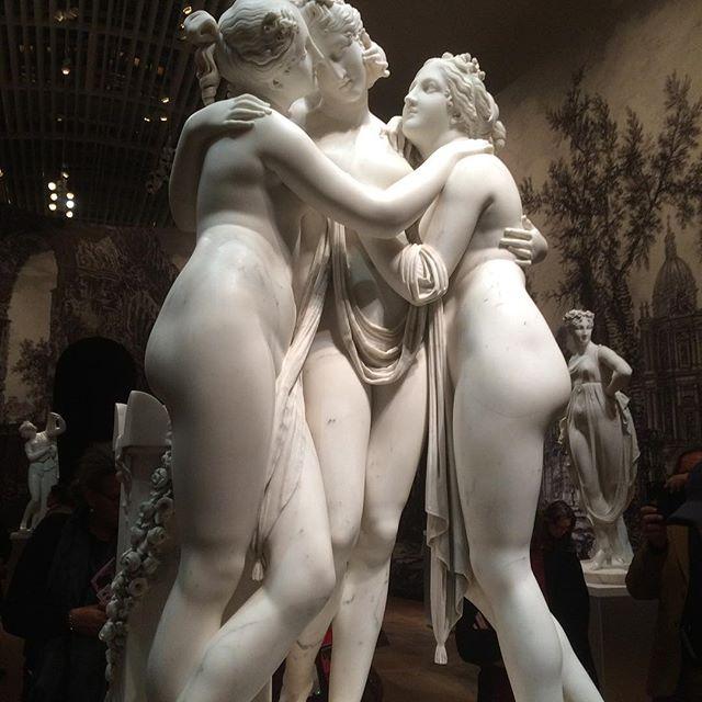 Canova's three graces. Elegance, mirth, youth and beauty. #DutchScoop #Canova #TheHermitage